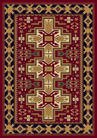 Amazing Navajo Cross Red By Skyhawk Rugs/L
